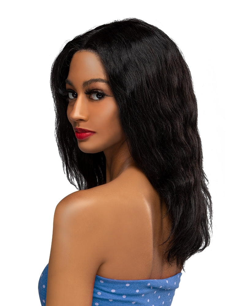 Laflare Fiti Wet & Wavy 100% Brazilian Remy Human Hair Lace Front Wig Bohemian 18""