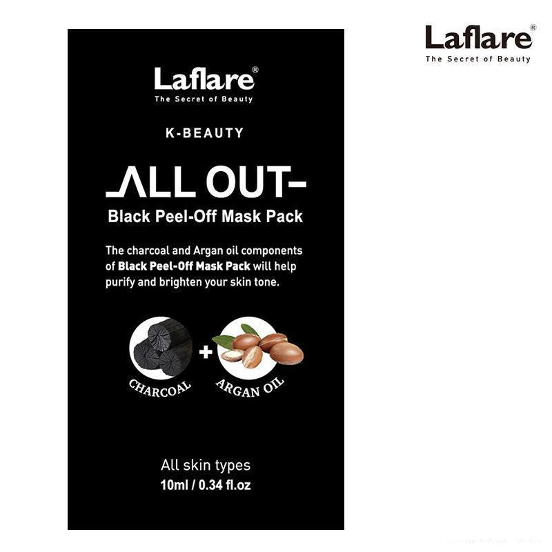 Laflare K-Beauty All Out Black Peel-Off Mask Pack