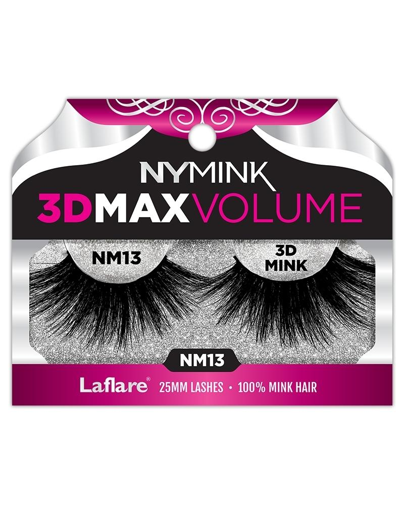 Laflare NY MINK 3D Max Volume 25mm 100% Mink Hair Eyelashes
