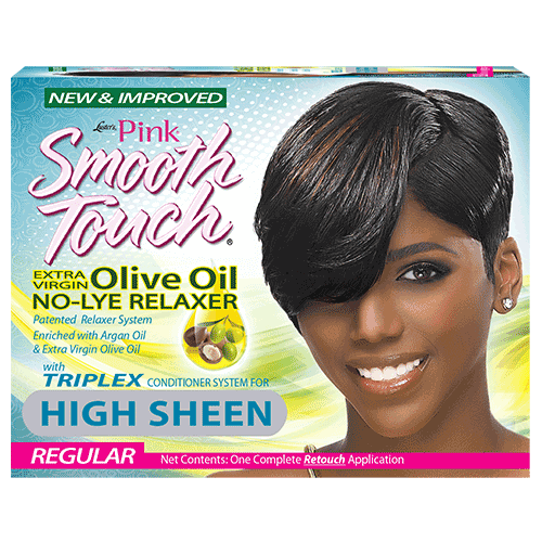 Luster's Pink Smooth Touch Extra Virgin Olive Oil No-Lye Relaxer Regular One Complete Retouch Application
