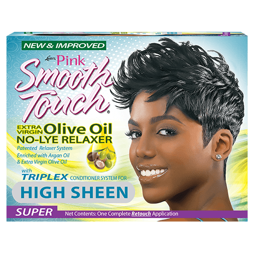 Luster's Pink Smooth Touch Extra Virgin Olive Oil No-Lye Relaxer Super One Complete Retouch Application