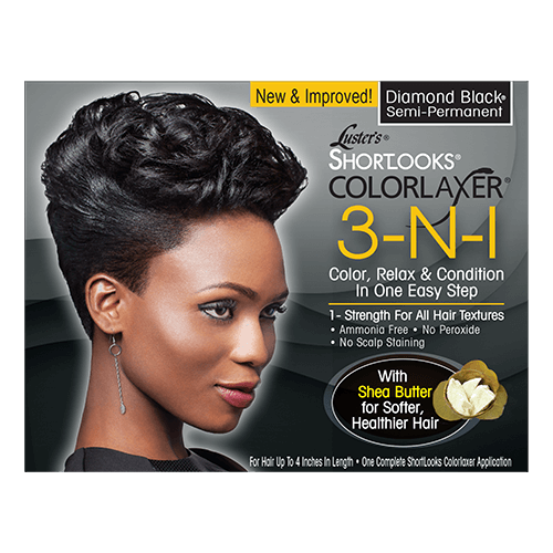 Luster's Shortlooks Colorlaxer 3-N-1 Semi-Permanent Color Relaxer Diamond Black