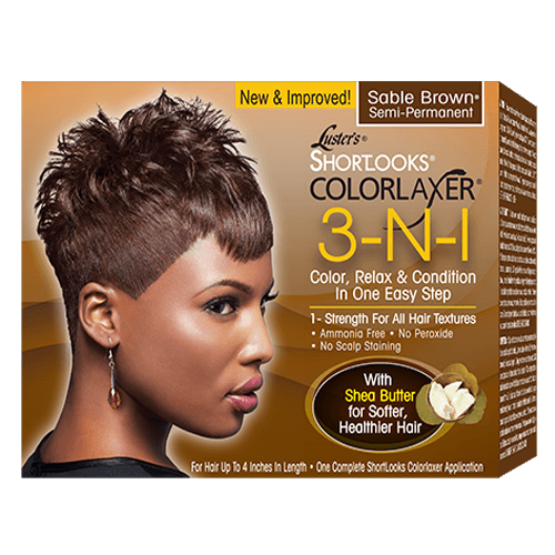 Luster's Shortlooks Colorlaxer 3-N-1 Semi-Permanent Color Relaxer Sable Brown