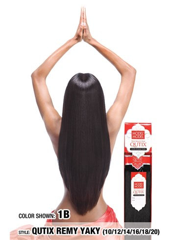 Model Model Qutix Cuticle Remy Yaky Human Hair Weave