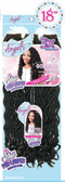 Motown Tress Angels 3X Feather Lite Pre-Looped Synthetic Hair Crochet Braid Goddess Locs 18""