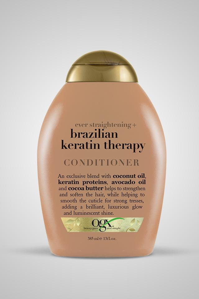 OGX Ever Straightening + Brazilian Keratin Therapy Conditioner 13oz