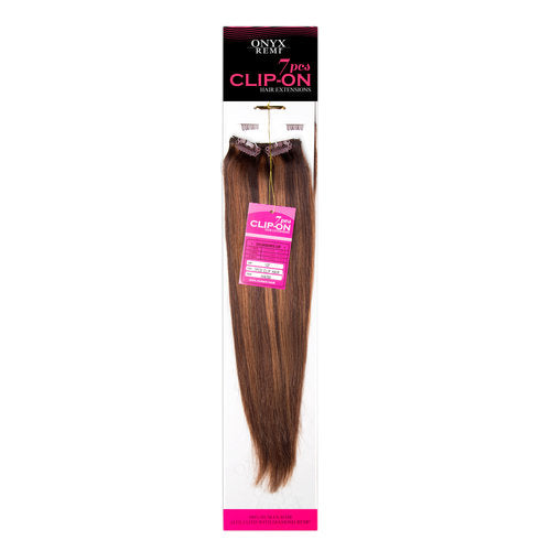 Onyx Remi 7pcs Human Hair Clip-On Extensions Straight