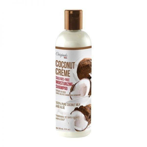 Originals By Africa's Best Coconut Creme Sulfate-Free Moisturizing Shampoo 12oz