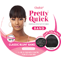 Outre Pretty Quick Premium Synthetic Hair Clip-On Bang Classic Blunt Bang