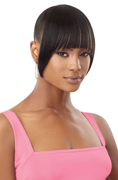 Outre Pretty Quick Premium Synthetic Hair Clip-On Bang Crescent China Bang