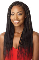 Outre X-Pression Synthetic Hair Crochet Box Braid Medium Natural Tip 45 Strands 14""