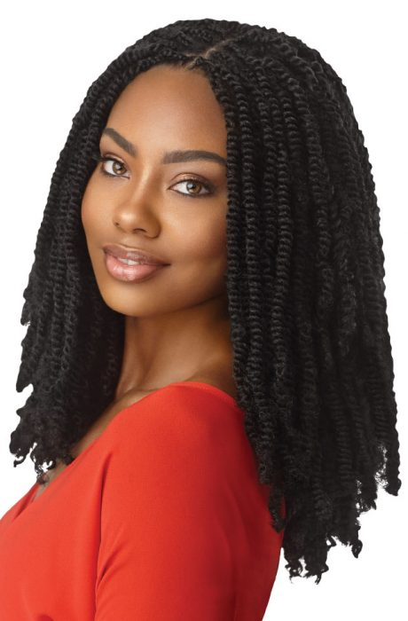 Outre X-Pression Twisted Up Synthetic Hair Crochet Braid Springy Afro Twist 24""
