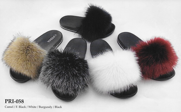 Prima Collection Fur Slide Sandal PRI-058