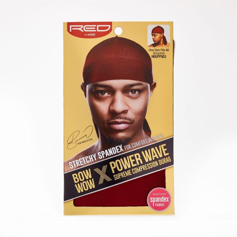 Red By Kiss Bow Wow X Power Wave Supreme Compression Durag
