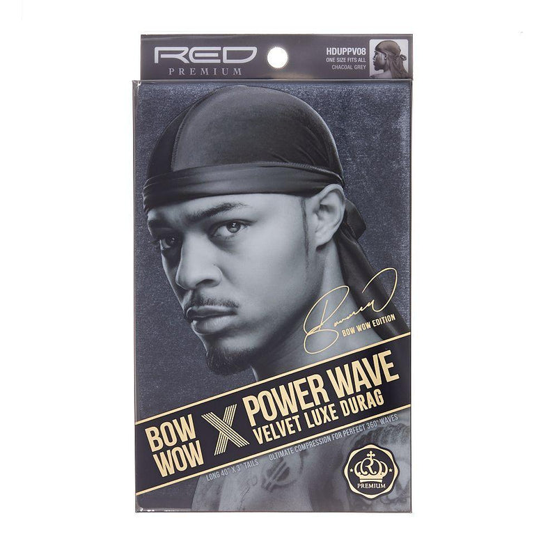 Red By Kiss Bow Wow X Power Wave Velvet Luxe Durag