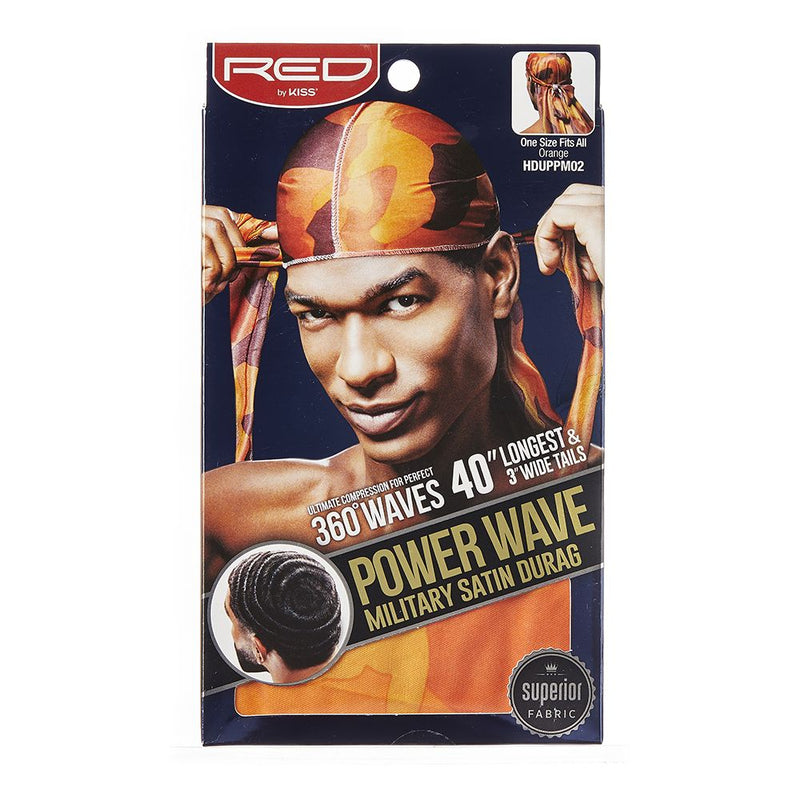 Red By Kiss Power Wave Military Satin Durag