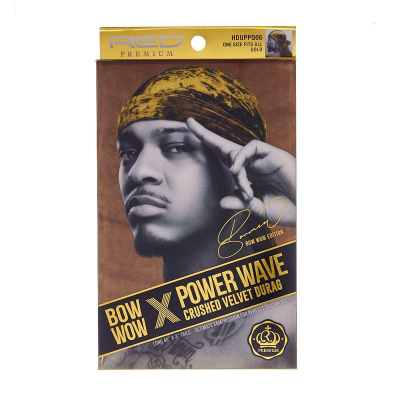Red Premium Bow Wow X Power Wave Crushed Velvet Durag