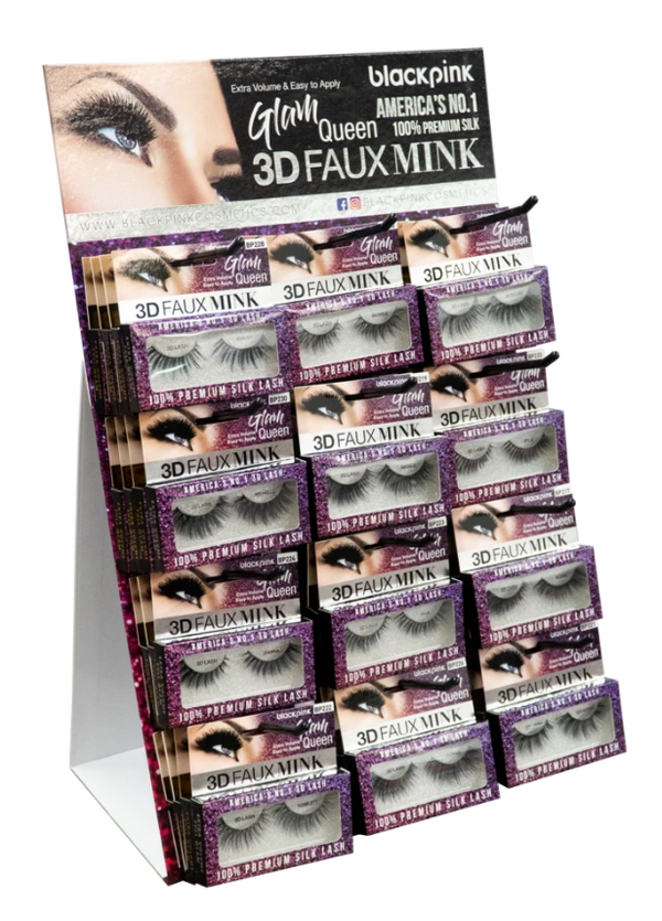 SM Beauty Blackpink 3D Faux Mink Eyelashes Glam Queen