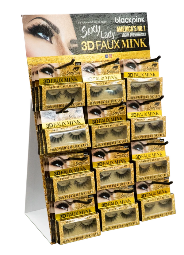 SM Beauty Blackpink 3D Faux Mink Eyelashes Sexy Lady