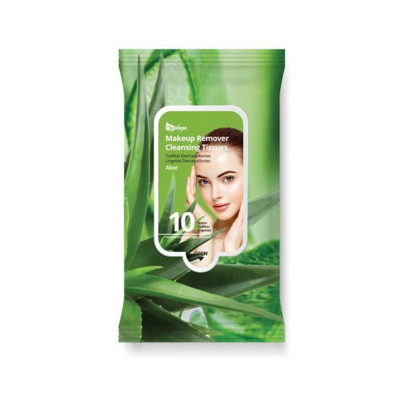 Saplaya Aloe Makeup Remover Cleansing Tissues 10 Sheets