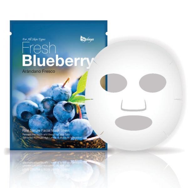 Saplaya Fresh Blueberry Real Nature Facial Mask Sheet