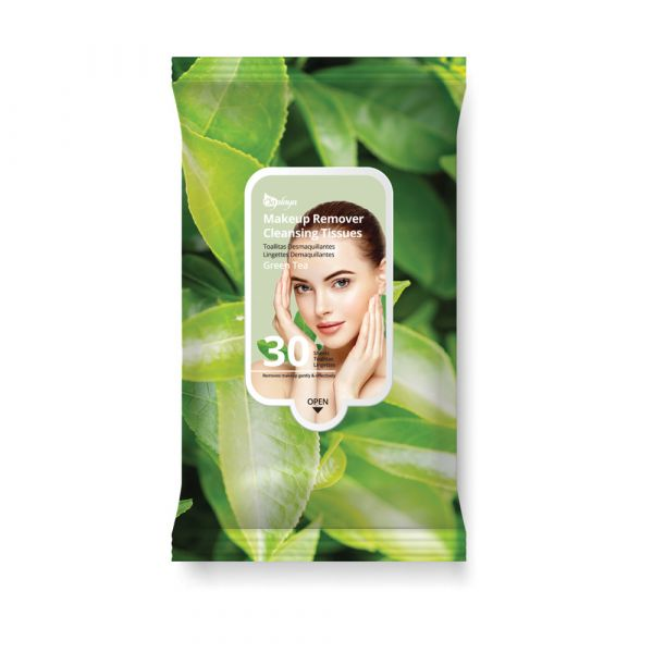 Saplaya Green Tea Makeup Remover Cleansing Tissues 30 Sheets