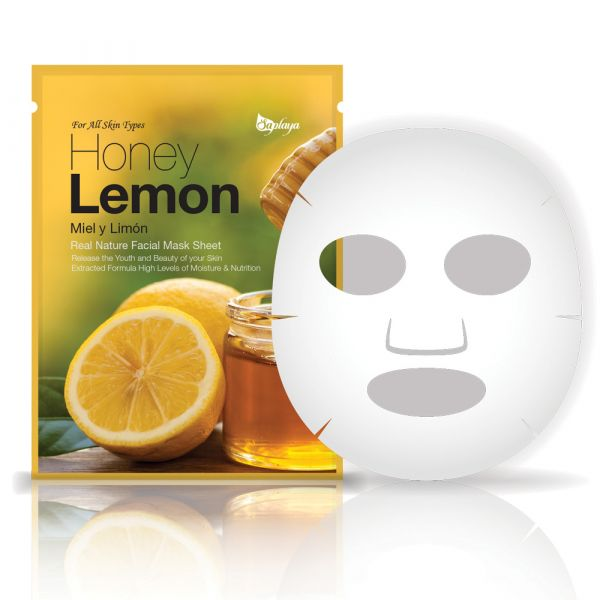 Saplaya Honey Lemon Real Nature Facial Mask Sheet