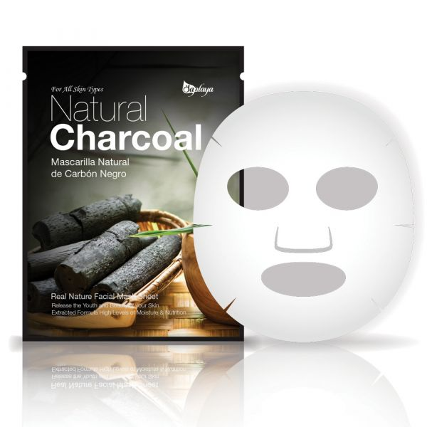 Saplaya Natural Charcoal Real Nature Facial Mask Sheet