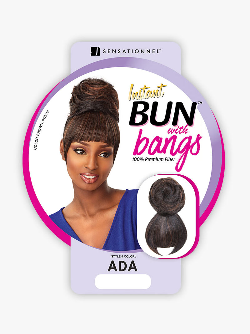 Sensationnel Synthetic Hair Instant Bun With Bangs Ada