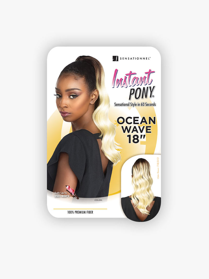 Sensationnel Instant Pony Synthetic Hair Drawstring Ponytail Ocean Wave 18""