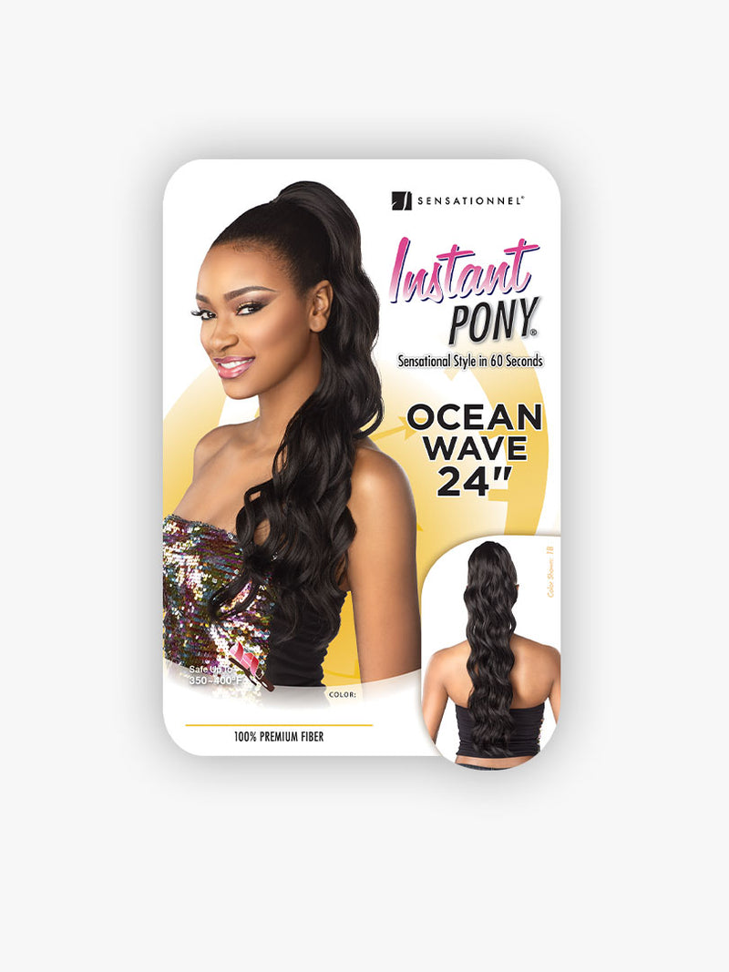 Sensationnel Instant Pony Synthetic Hair Drawstring Ponytail Ocean Wave 24""