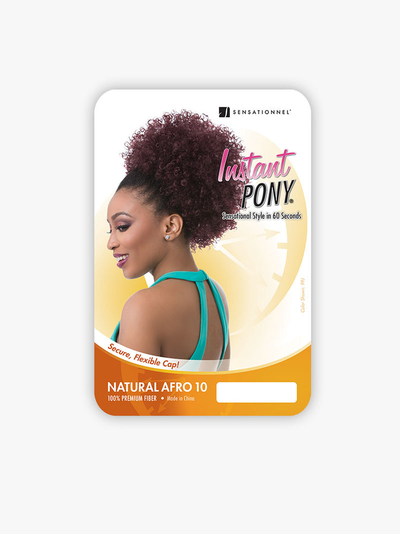 Sensationnel Instant Pony Synthetic Hair Drawstring Ponytail Natural Afro 10