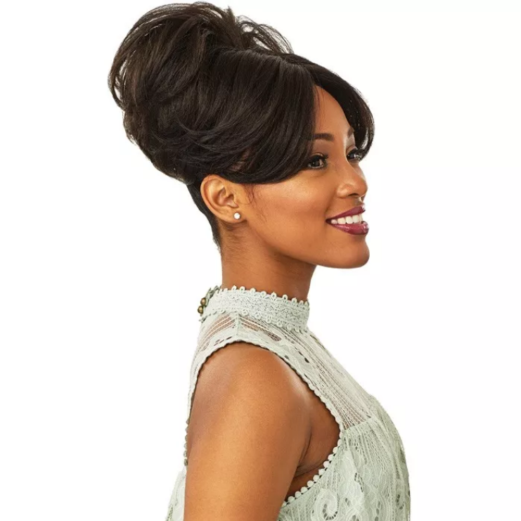 Sensationnel Synthetic Hair Instant Bun With Bangs Evonne
