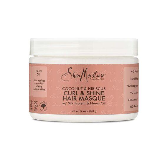 Shea Moisture Coconut & Hibiscus Curl & Shine Hair Masque 12oz