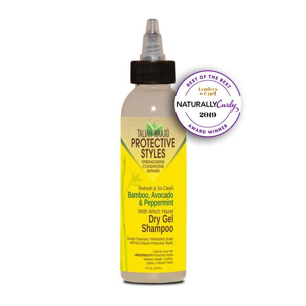 Taliah Waajid Protective Styles Refresh And So Clean Bamboo, Avocado And Peppermint Dry Gel Shampoo 4oz