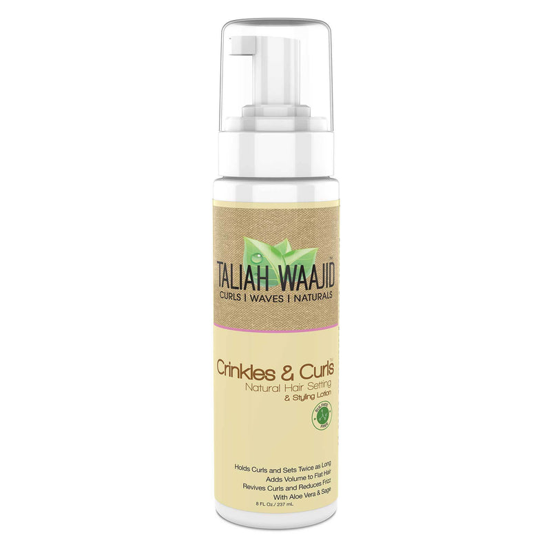 Taliah Waajid Curls, Waves & Naturals Crinkles & Curls Natural Hair Setting & Styling Lotion 8oz