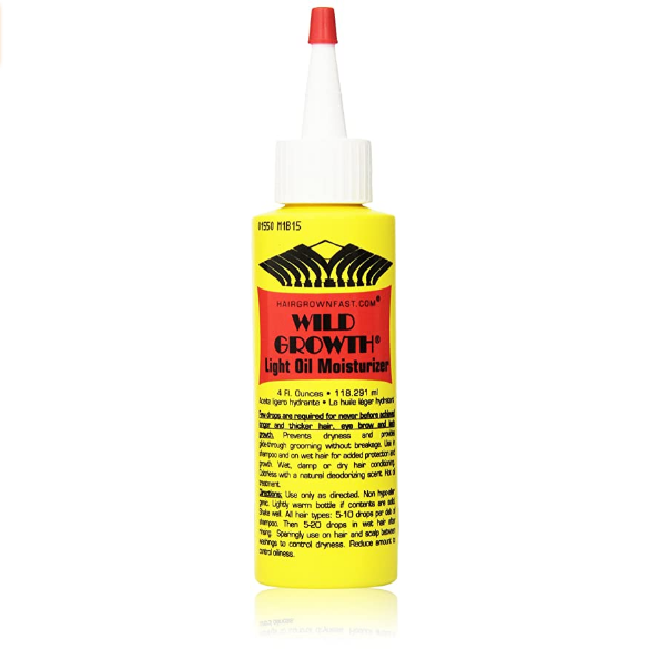 Wild Growth Light Oil Moisturizer 4oz