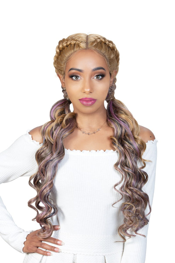 Zury Sis 360 Lace Double Dutch Box Braid Synthetic Hair Lace Wig 360-DD LACE H TIMI