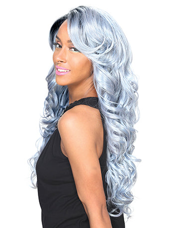 Zury Sis Invisible Top Part Synthetic Hair Lace Front Wig IV-Lace H Ari 24""