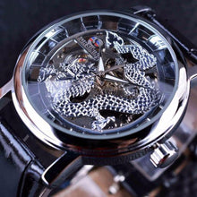 Load image into Gallery viewer, Forsining  Dragon Skeleton Design Luxury Mechanical Mens Wrist Watch