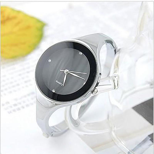 Fashion Stainless Steel Wristwatch Bracelet Quartz Woman's Watch
