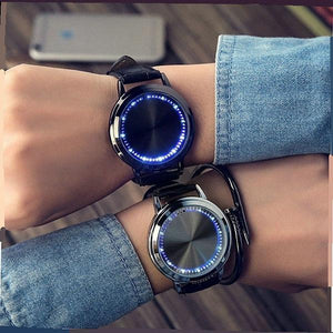 Fashion Mens Creativity LED Waterproof Watch