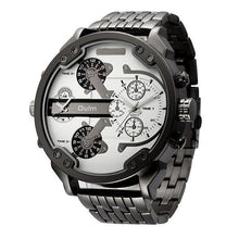 Load image into Gallery viewer, Fashion Mens Multi - Time Zone Steel Waterproof Watch
