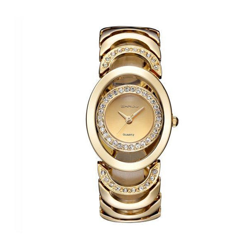 Stylish And Elegant Steel Diamond Watch Woman's Watch