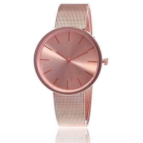 Fashion Mesh Band Quartz Watches Woman's Watch