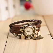 Load image into Gallery viewer, Fashion Leather Butterfly Pendant Wrist Watch Woman's Watch