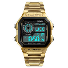 Load image into Gallery viewer, Mens Sports Watches Stainless Steel Fashion Digital Wristwatches