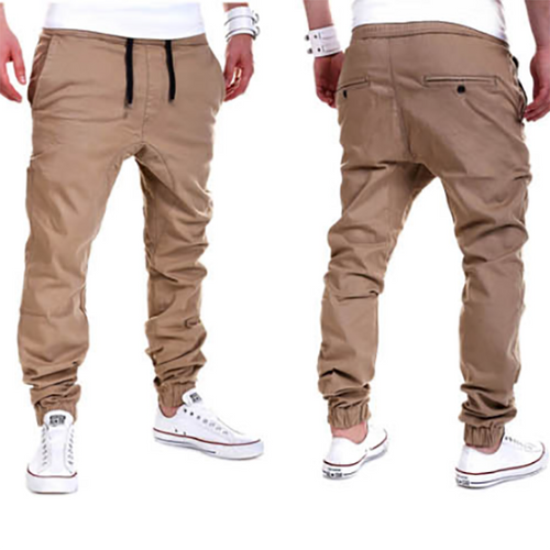 Fashion Mens Tether Elastic Casual Sports Pants