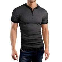 Load image into Gallery viewer, Mens Basic Fashion Daily Short Sleeve Slim Fit T-Shirt
