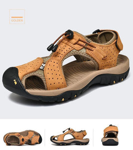 Leather Breathable Casual Beach Mens Shoes